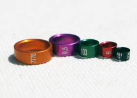 Coloured Duralumin Rings