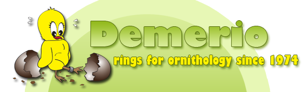 Demerio, rings for ornithology since 1974